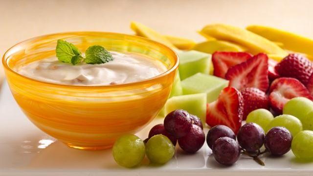 Apricot Mango Yogurt Fruit Dip | Recipe