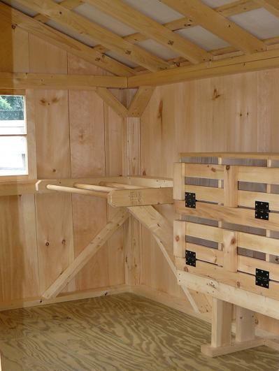 Tips on coop designs chicken coops pinterest for Chicken coop interior designs