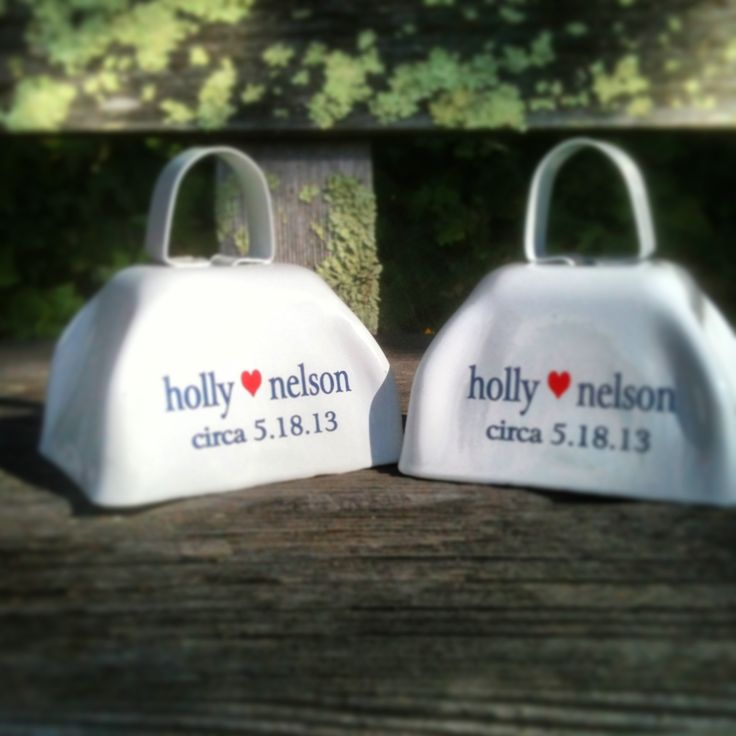 Fun wedding bells for the bride and groom cowbells com http tinyurl