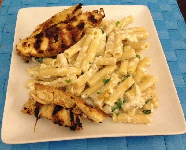 Grilled Chicken with Lemon Basil Pasta | Food - Chicken | Pinterest