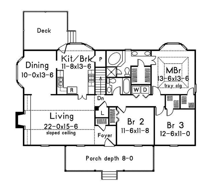 Bay Ranch Luxury Home Floor Plans Pinterest
