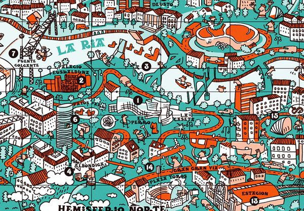 Bilbao Spain Map Bilbao Spain Map