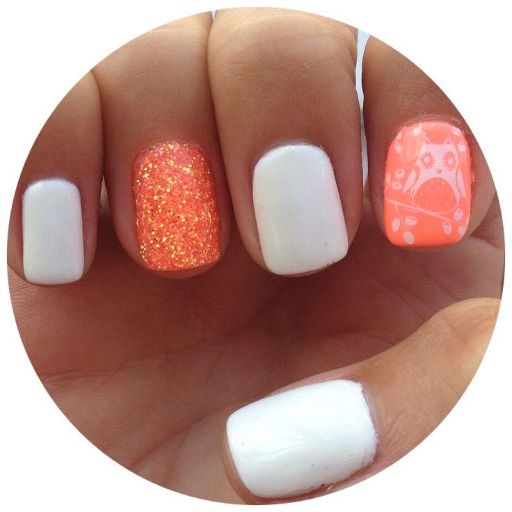 Fun Nail Polish: Nails Nail Art Polish Design Gelish Shellac Neon Orange