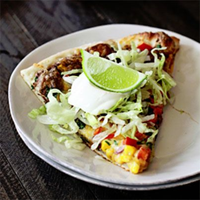 Black Bean Mexican Pizza | Recipes | Pinterest