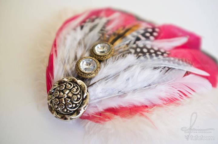 Feather hair accessories | My Finished DIY Projects | Pinterest