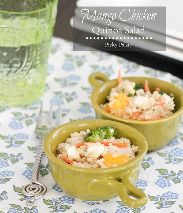 Mango Chicken and Blue Cheese Quinoa Salad! One of our favorite summer ...