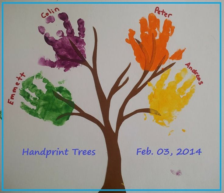 Baby and me craft time handprint trees craft ideas pinterest