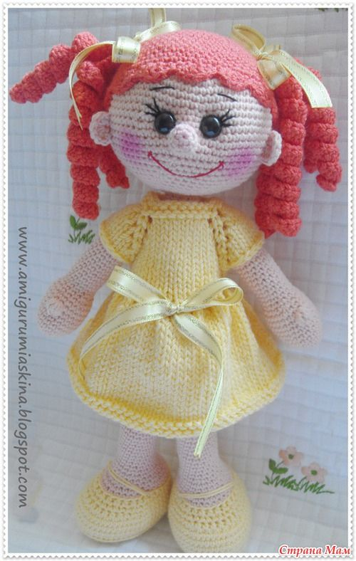Amigurumi Doll Patterns For Beginners : Amigurumi doll pattern, FREE amigurumi Pinterest