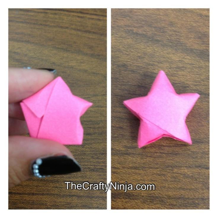 lucky star origami papercrafts pinterest