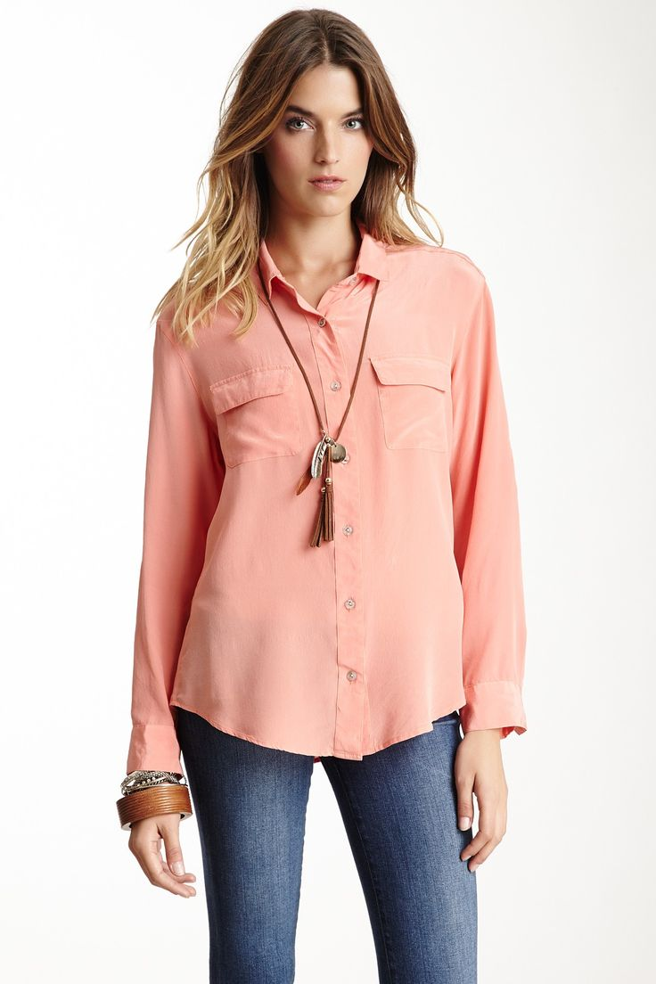 Silk button down shirt my style pinterest for Silk button down shirt