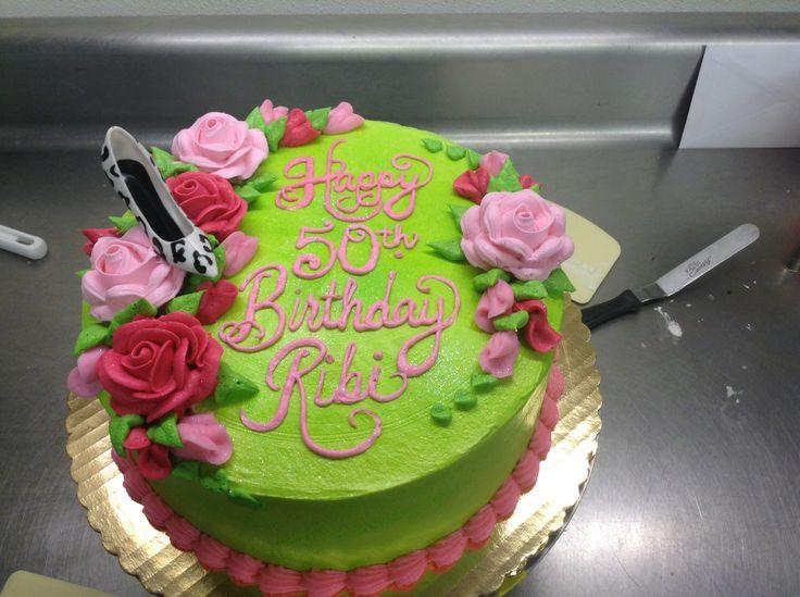 Beautiful colors! Ladies Birthday cake  65th Birthday Ideas  Pinte ...