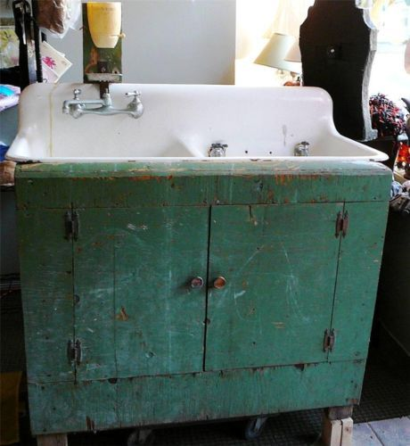 Sink Base For Farmhouse Sink : Vintage Farm Sink Dry Sink with Base house and home Pinterest