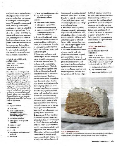 Lemon Mascarpone Crepe Cake | Dessert | Pinterest