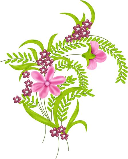 Ferns & Flowers | Clip Art | Pinterest