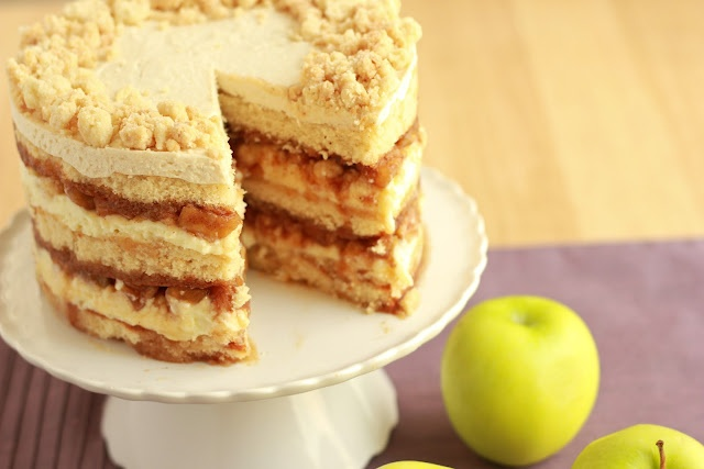 Get ready for the greatest cake ever. The Apple Pie Layer Cake... the ...