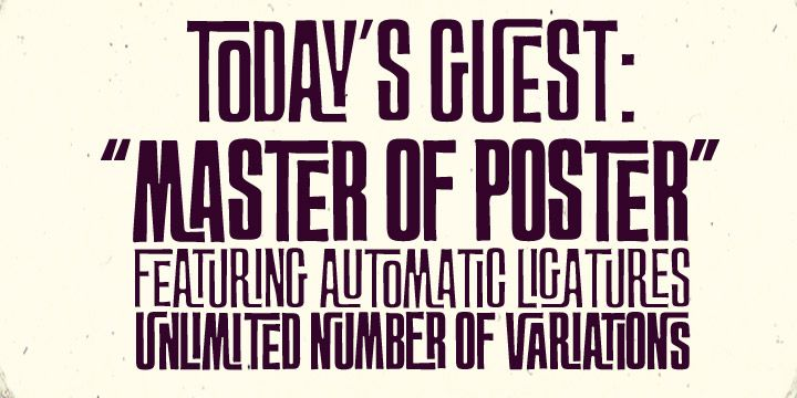 Master of Poster Font Poster   Typography   Pinterest Typography Fonts Alphabet