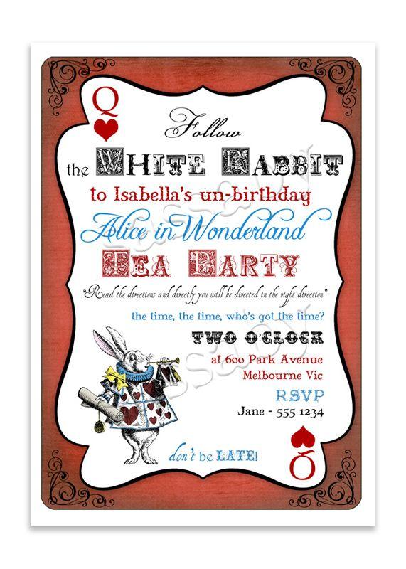 alice in wonderland online invitation
