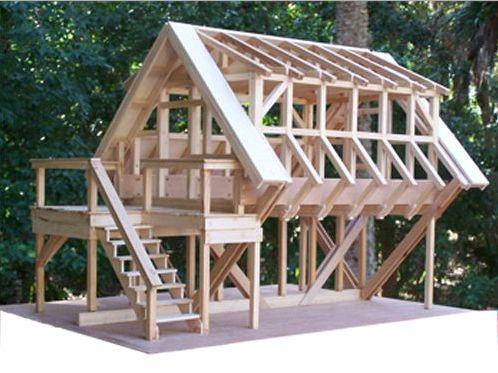 Двускатная крыша на сарай