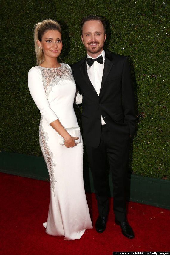 Aaron Paul And Wife Lauren Parsekian Are The Emmys' Cutest ... Aaron Paul Wife