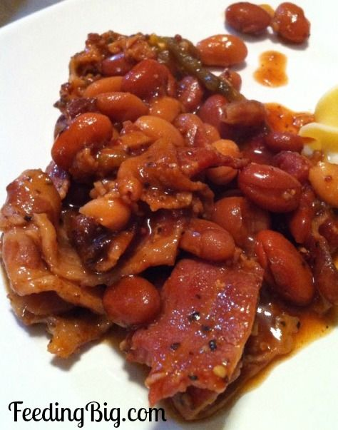 Slow Cooker Ranch Beans with Peppered Bacon. There are some jalapenos ...