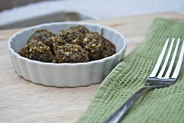Lentil Meatballs with Lemon Pesto | Lentil Central | Pinterest
