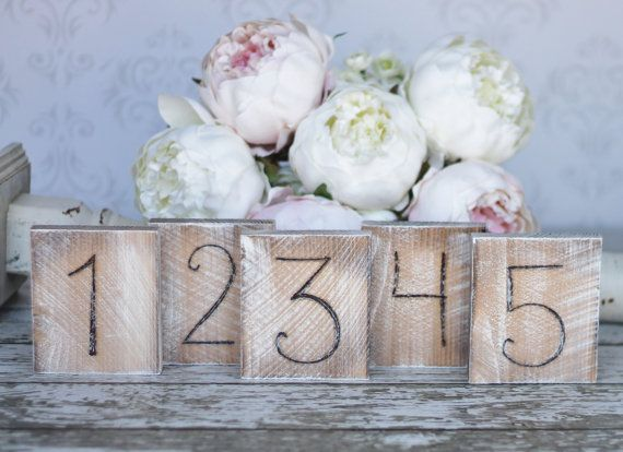 Country Table Numbers Distressed Wedding Decor by braggingbags, $4.00