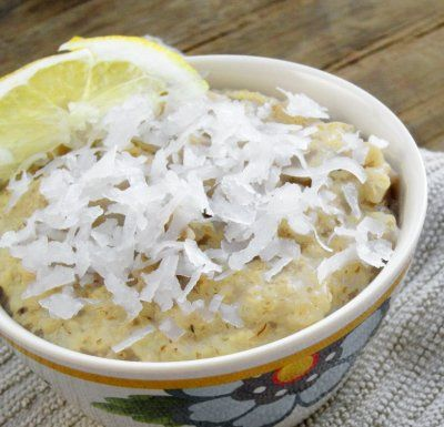 Lemon Coconut Oatmeal by Lauren Smith --- ROLLED OATS, lemon, banana ...
