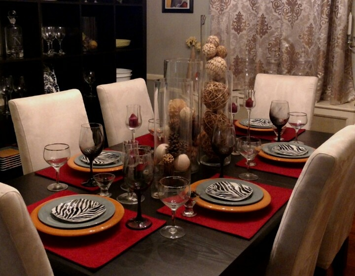 Dinner Party Table Setting Party Table Settings Pinterest