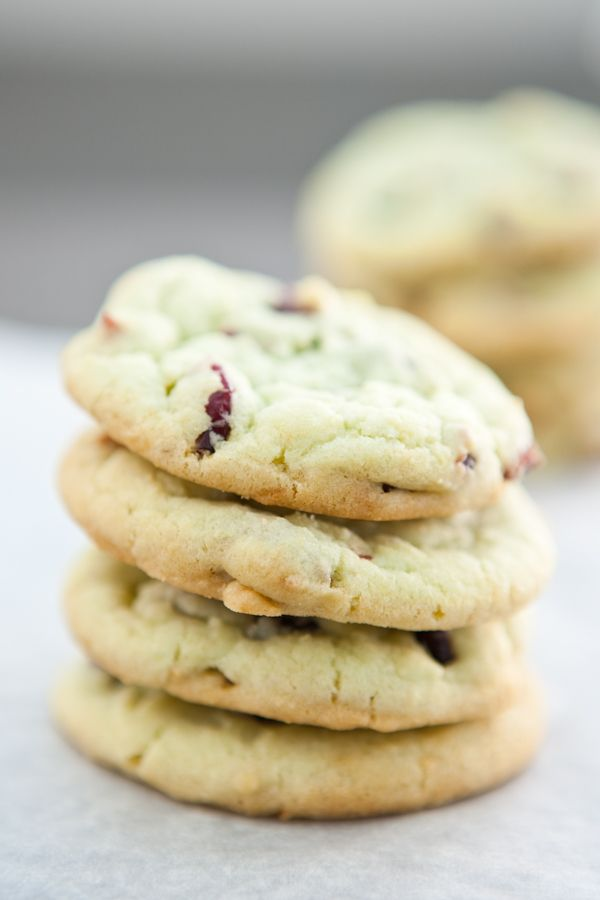 Cranberry Pistachio Pudding Cookies by EclecticRecipes.com #recipe