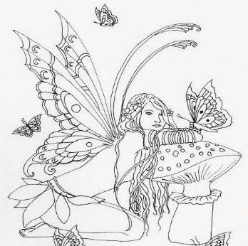 Butterfly fairy fairy coloring sheets pinterest for Butterfly fairy coloring pages