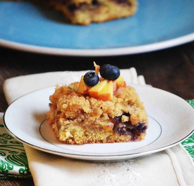 Blueberry Peach Cobbler Bars**   Desserts   Pinterest