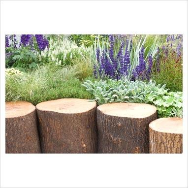Log edging garden and patio pinterest for Log garden edging