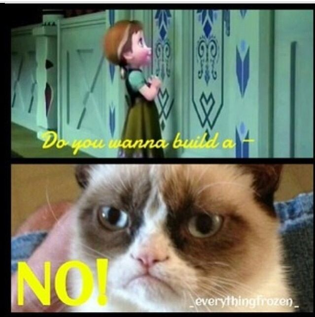 grumpy cat hates frozen the movie maddie 39 s pinterest. Black Bedroom Furniture Sets. Home Design Ideas