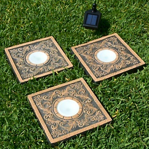 Solar powered stepping stones garden and outdoor spaces for Solar powered glow stepping stones