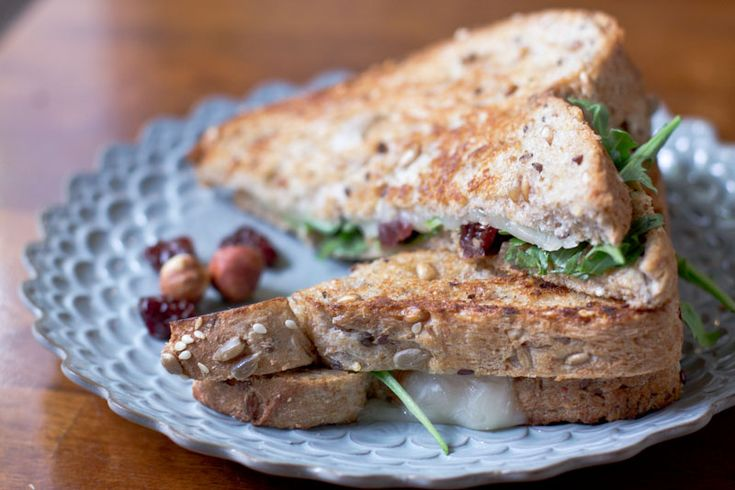 Grilled Cheese Recipe with dried cherries arugula and hazelnut butter ...