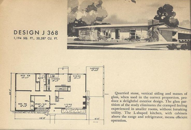 Vintage home plans mid century homes atomic ranch for Atomic ranch floor plans
