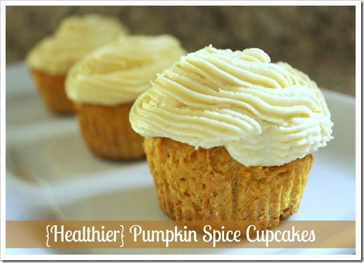 lightened-up pumpkin spice cupcakes | Sweets and Treats | Pinterest