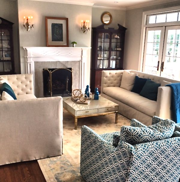 Living Room Cozy Chic Southern Grace Pinterest
