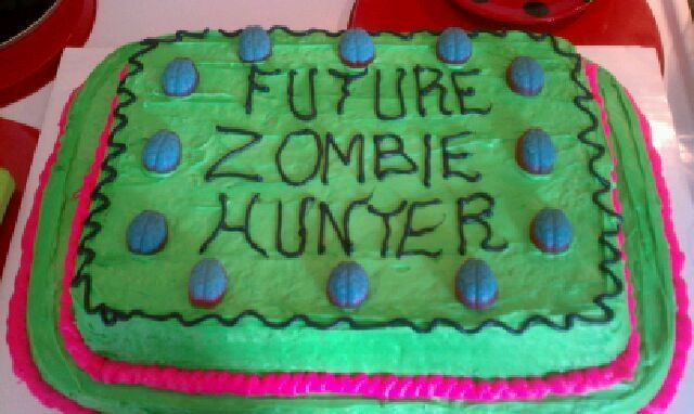 My homemade zombie baby shower cake!
