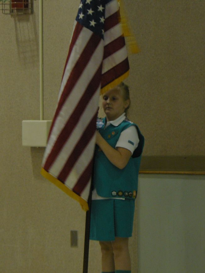 flag ceremony for girl scouts