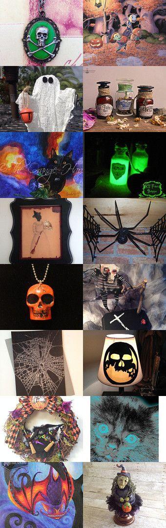 All you need for Halloween HAB by TwilightFaerie on Etsy--Pinned with TreasuryPin.com #halloween #halloweenartistbazaar