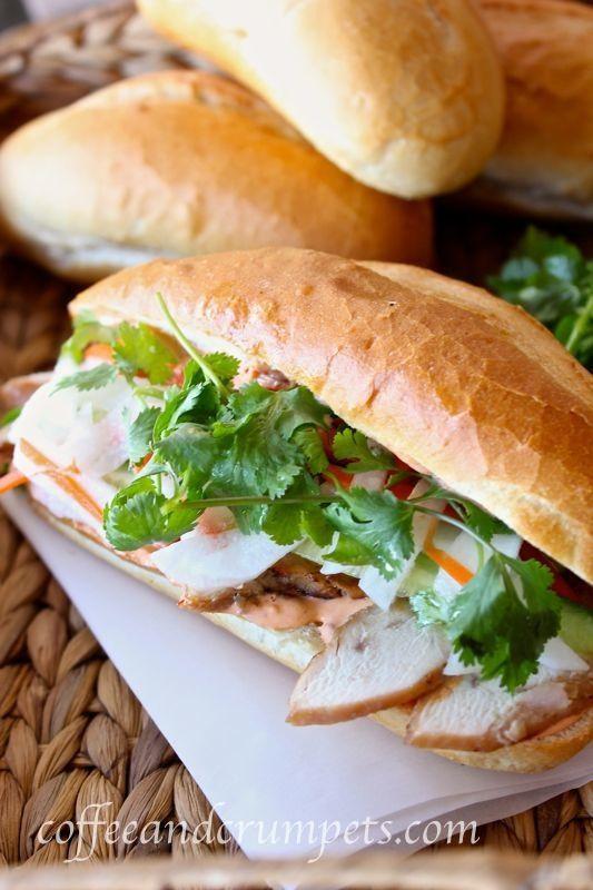 Banh Mi Ga ~ Vietnamese Chicken Sandwich | Coffee and Crumpets