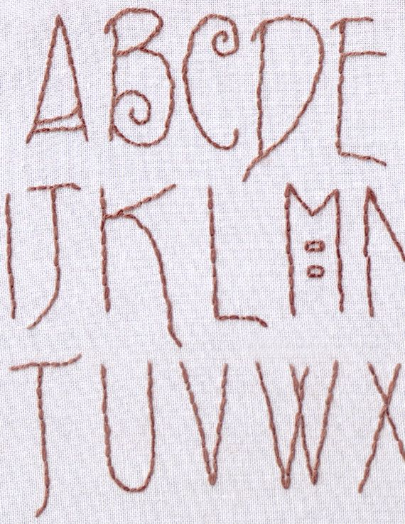 Embroidery Letter Patterns By Hand Ausbeta