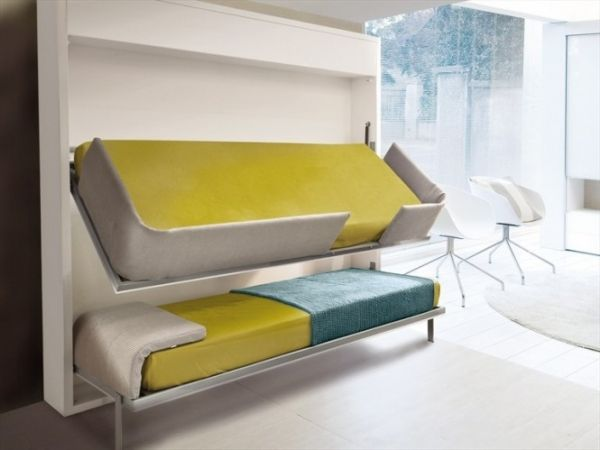 beds that folds into a wall! so cool! Look at later pics fr the bed ...