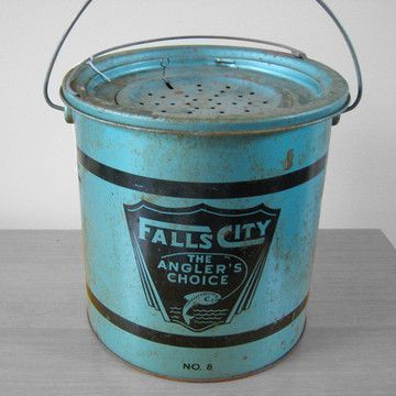 Vintage Minnow Bucket now featured on Fab.