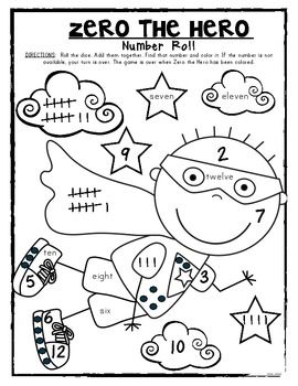 Zero The Hero Coloring Page For Kindergarten Sketch