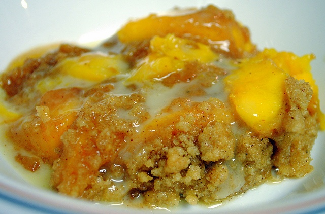 Peach Crisp with Maple Cream Sauce.... Wish I could have a bite right ...