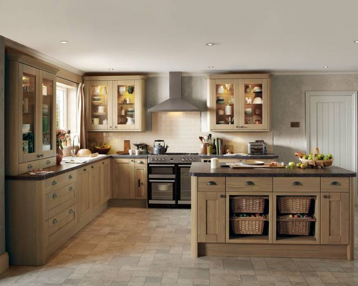 Howdens Tewkesbury light oak  Kitchen Ideas  Pinterest