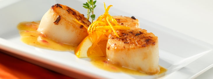 Seared Scallops in Ginger Citrus Butter | SHRIMP/SEAFOOD | Pinterest