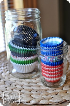 Muffin Cups2 BLOG...simple yet genius idea for storing cupcake wrappers.